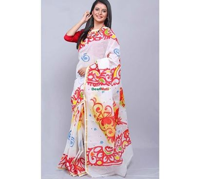 Picture of Raka Fashion Exclusive Tule Print Tangail cotton saree code#1373