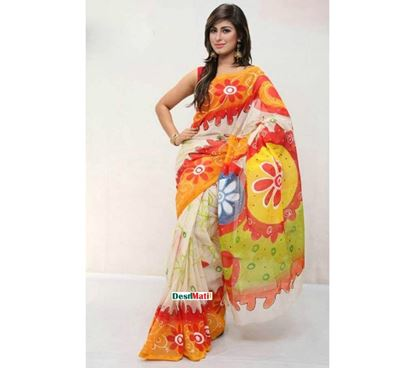 Picture of Raka Fashion Exclusive Tule Print Tangail cotton saree code#1374