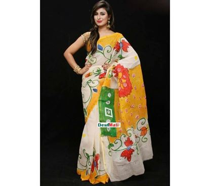 Picture of Raka Fashion Exclusive Tule Print Tangail cotton saree code#1376