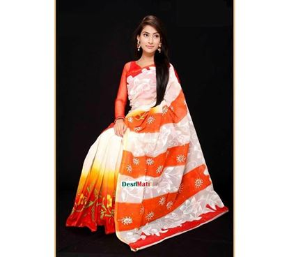 Picture of Raka Fashion Exclusive Tule Print Tangail cotton saree code#1378