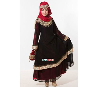 Picture of Raka Fashion Exclusive Women's Dubai Two Part Borka Code#9009