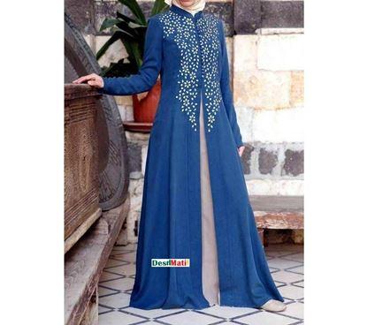 Picture of Raka Fashion Exclusive Women's Blue Abaya Code#9503