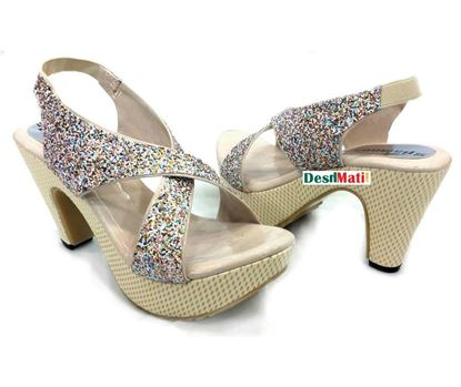 Picture of Ladies high heels sandals shoe/লেডিজ হাই হিল স্যান্ডেল শু