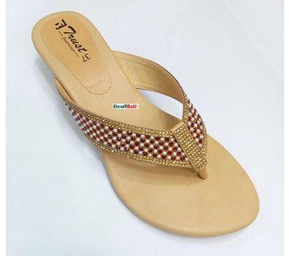 Picture of Ladies Semi-heeled sandals/লেডিজ সেমি-হিল স্যান্ডেল code # 5202