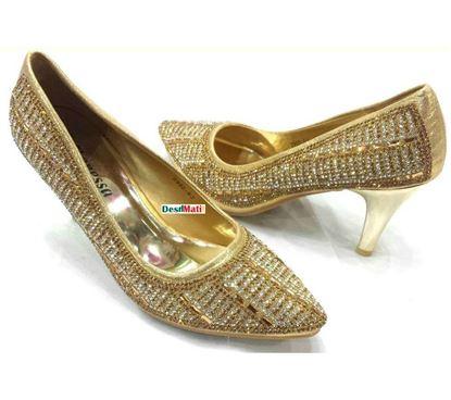 Picture of Ladies Semi-heeled sandals/লেডিজ সেমি হিল স্যান্ডেল code#2105