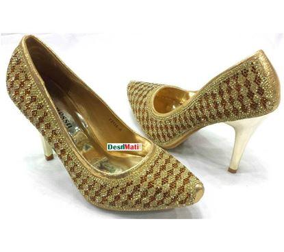 Picture of Ladies Semi-heeled sandals/লেডিজ সেমি হিল স্যান্ডেল