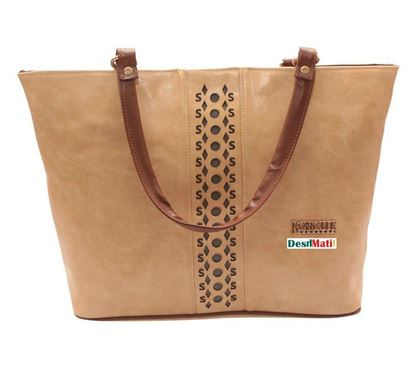 Picture of Brown Color Ladies Handbag Code#1206