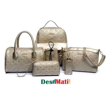 Picture of Artificial Ladies Leather Bag 6 Piece Set