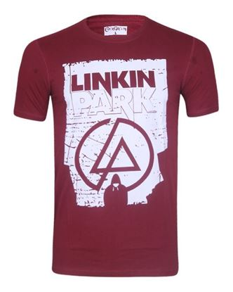 Picture of Cotton Casual Short Sleeve T-Shirt - Maroon