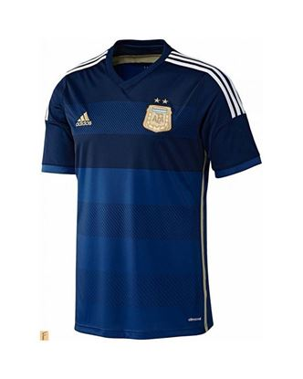 Picture of Argentina World Cup Away Jersey 2014 - Blue