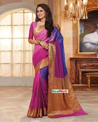 Picture of Rajguru Multi-color Silk Katan Saree code#1700
