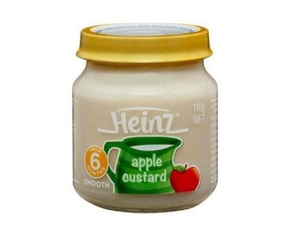 Picture of Heinz 100% Smooth Apple Custard  Baby Food 6+ Months-110gm