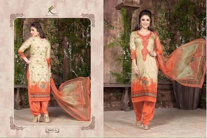 Picture of Rakhi Exclusive Dress Coral & Cream