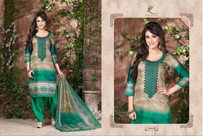 Picture of Exclusive Dress Emerald & Grey
