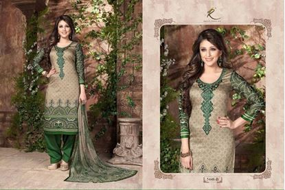Picture of Exclusive Dress Forest & Grey