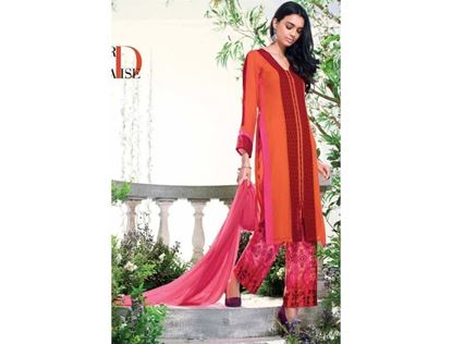 Picture of Ganga Fashion Orange-Pink Color Georgette Salwar Suit Georgette