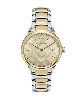 Picture of Burberry Stainless Steel Chronograph Watch for Men - Gold and Silver Tone