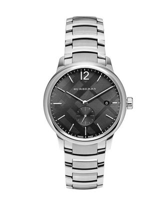 Picture of Burberry Stainless Steel Chronograph Watch for Men - Silver