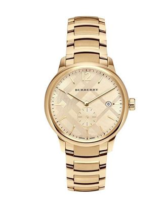 Picture of Burberry Stainless Steel Chronograph Watch for Men - Golden