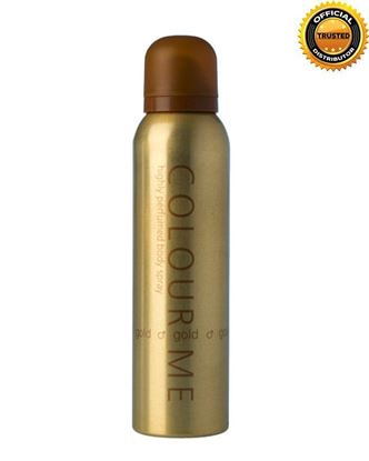 Picture of COLOUR ME Gold Highly Perfumed Body Spray For Men - 150ml
