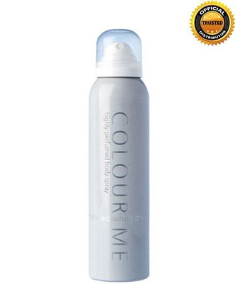 Picture of COLOUR ME White Highly Perfumed Body Spray For Men - 150ml
