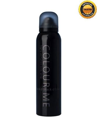 Picture of COLOUR ME Black Highly Perfumed Body Spray For Men - 150ml