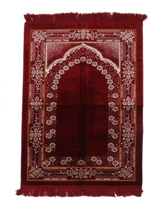 Picture of Muslim Prayer Janamaz Turky 70cm/110cm - Red