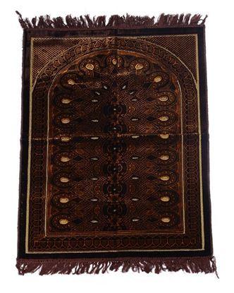 Picture of Muslim Prayer Velvet Janamaz - Chocolate
