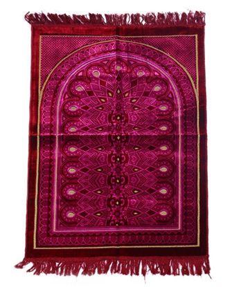 Picture of Muslim Prayer Velvet Janamaz - Purple