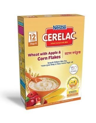 Picture of NESTLÉ CERELAC Wheat & Apple Corn Flakes Stage 4(12 months +) BIB-400gm