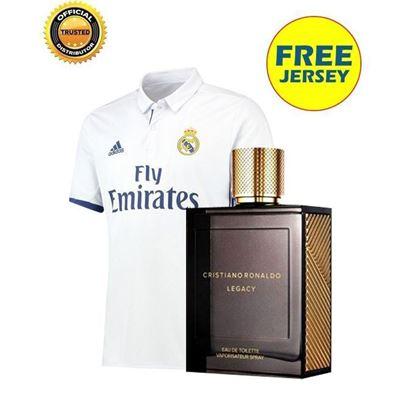 Picture of  Cristiano Ronaldo Legacy For Men EDT Perfume - 100ml with free Real Madrid Jersey