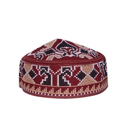 Picture of Muslim payer Corner Cotton Tupi For Men - Multi Color