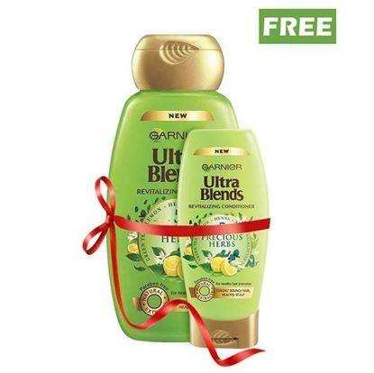 Picture of Garnier Buy 640ml Ultra Blends Revitalizing Shampoo and Get 175ml Ultra Blend Revitalizing Shampoo Free