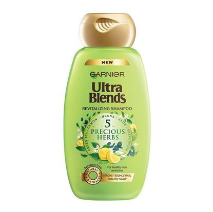 Picture of Garnier Ultra Blends Revitalizing Shampoo - 5 Precious Herbs - 340ml