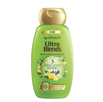 Picture of Garnier Ultra Blends Revitalizing Shampoo - 5 Precious Herbs - 175ml
