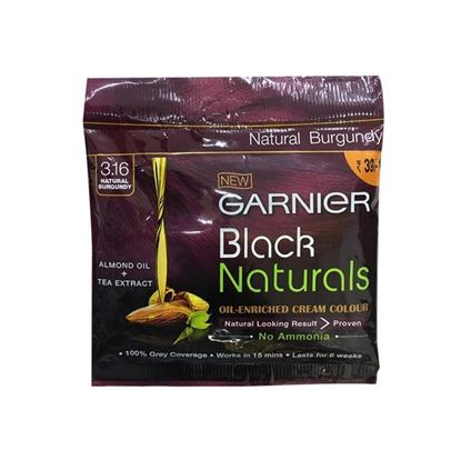 Picture of Garnier Black Naturals Oil-Enriched Cream Color (Natural Burgundy) - 20ml + 20g