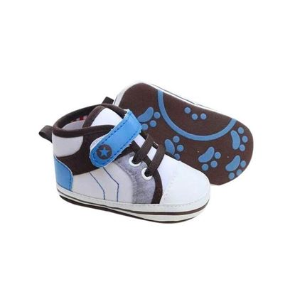 Picture of Zarossa White And Blue PU Leather Shoe For Baby
