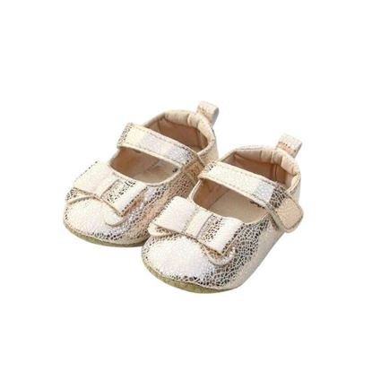Picture of Zarossa Golden PU Leather Shoe For Baby