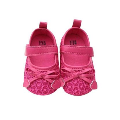 Picture of Zarossa Deep Pink PU Leather Shoe For Baby