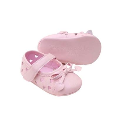 Picture of Zarossa Pink PU Leather Shoe For Baby