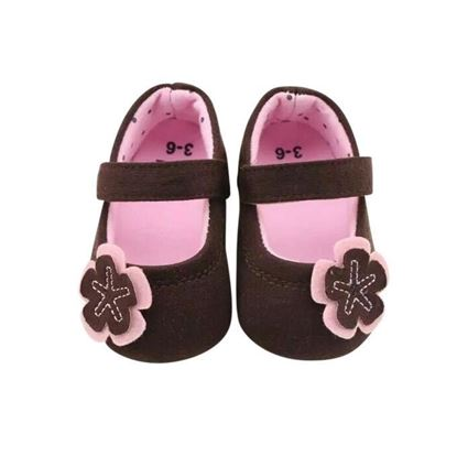 Picture of  Zarossa Brown And Pink Cotton Shoe For Baby