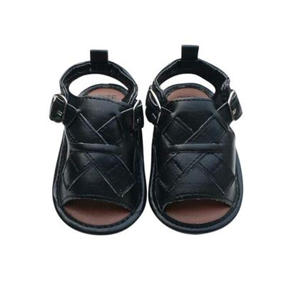 Picture of Zarossa Black PU Leather Sandal For Baby
