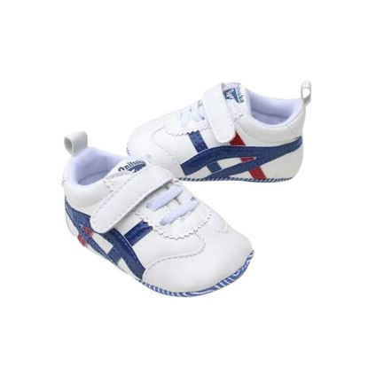 Picture of Zarossa White and Blue PU Leather Sneaker For Boys