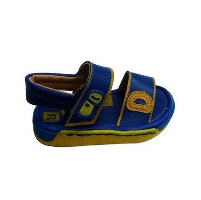 Picture of Kids and Mom Bazar Faux Leather Casual Sandal for Boys - Blue