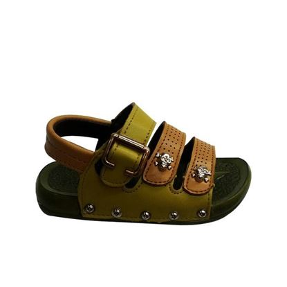 Picture of Kids and Mom Bazar Faux Leather Casual Sandal for Boys - Green