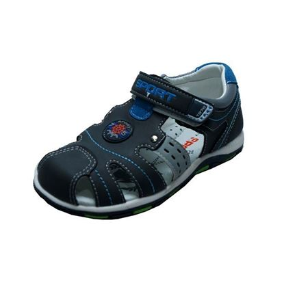Picture of Kids and Mom Bazar Grey Baby Sandal Lcs 03