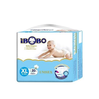 Picture of IBOBO Super Absorbency and Ultra Thin Baby Belt Diaper XL (12-20 KG) - 20 Pcs