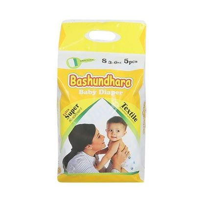 Picture of Bashundhara Baby Diaper Mini Series S 3-6 Kg - 5Pcs