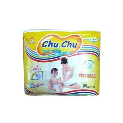 Picture of  Chu Chu Belt System Baby Diaper M (6-11 Kg) - 16 Pcs