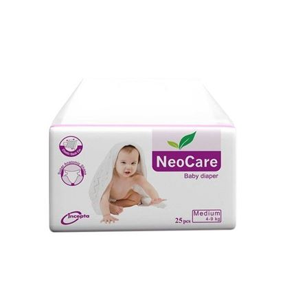 Picture of Neocare Belt System Baby Dry Diaper M (4-9 kg) - 25pcs